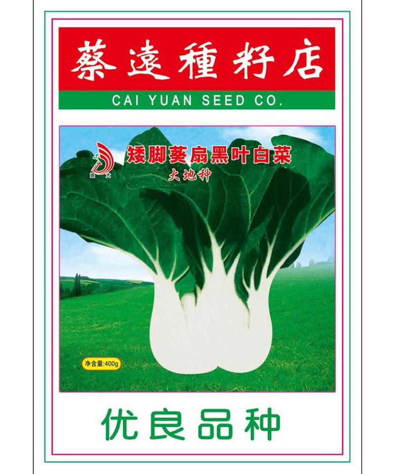 矮脚葵扇黑叶白菜(大地种)400g